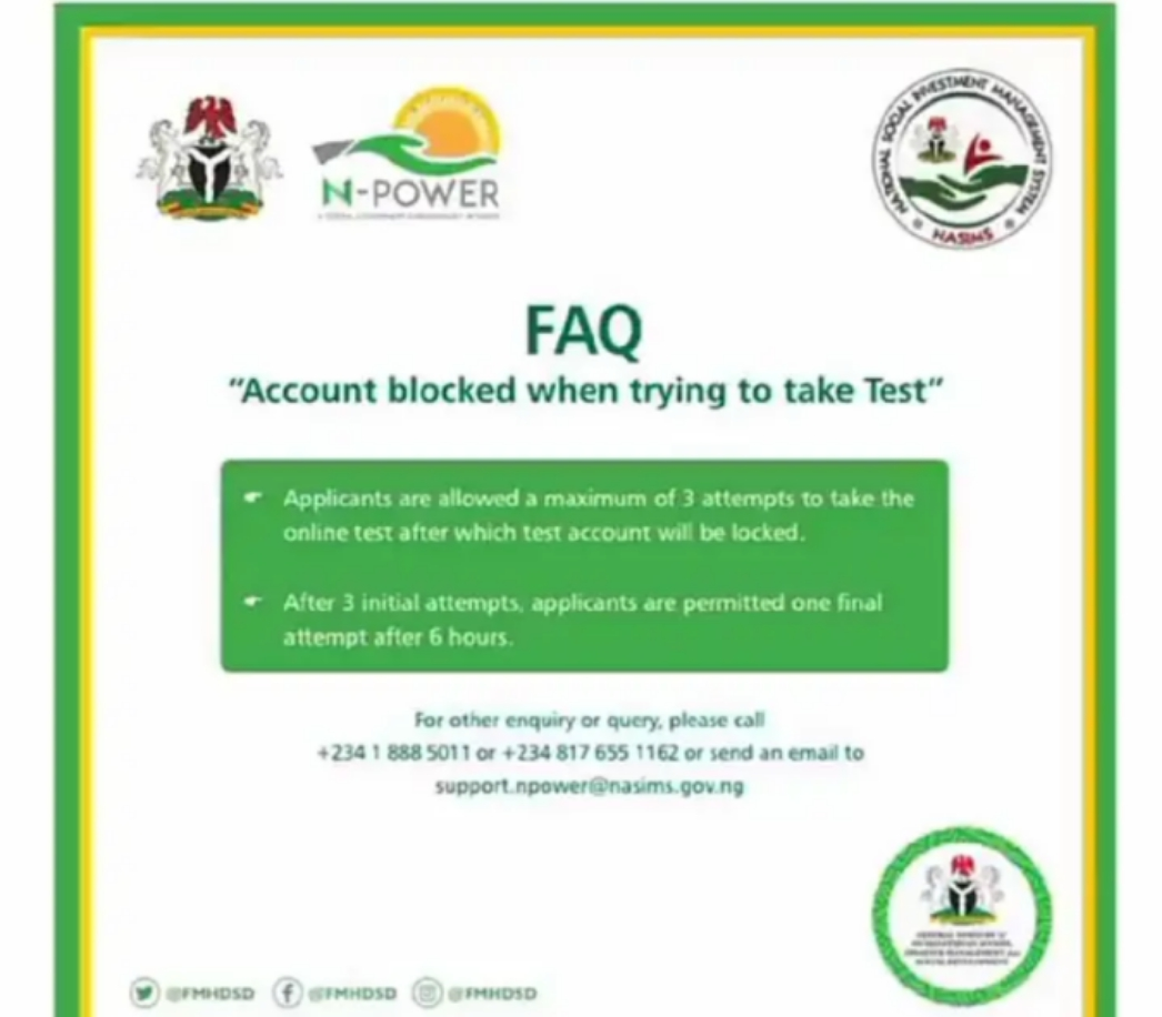 If Your Account Is Blocked When Trying To Take Test Here Is The Solution