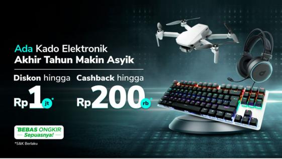 promo tokopedia produk elektronik headset gaming dan drone desember 2020