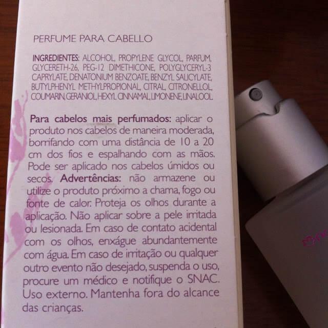 Perfume para Cabelos Natura