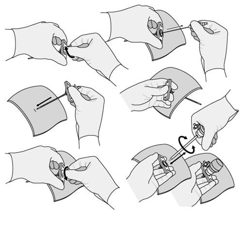 Tuerca de pino: Instrucciones