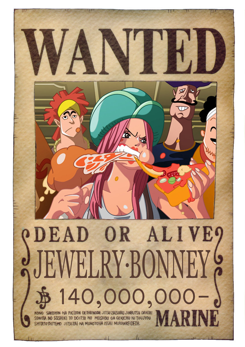 BOUNTY WANTED DEAD OR ALIVE JEWELRY BONNEY