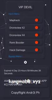 APK MOD VIP Devil (Maphack, Drone View, Rank Booster) Mobile Legends