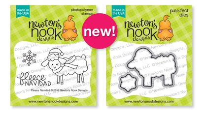 Fleece Navidad Stamp Set and Die Set by Newton's Nook Designs #newtonsnook