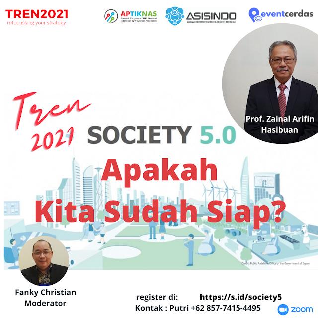 Apakah INDONESIA telah siap memasuki era Society 5.0 ?