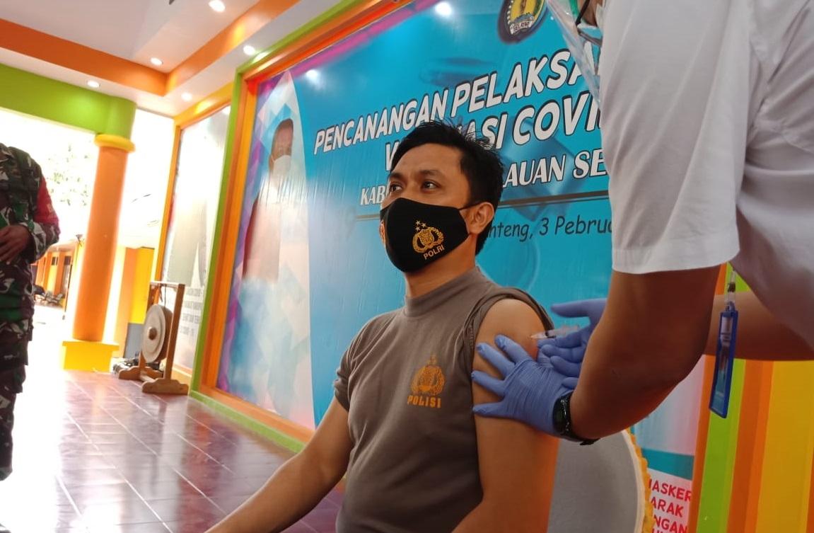Usai Di Vaksin, Kapolres Kepulauan Selayar: Sakit dan Mati Adalah Takdir Dari Allah SWT