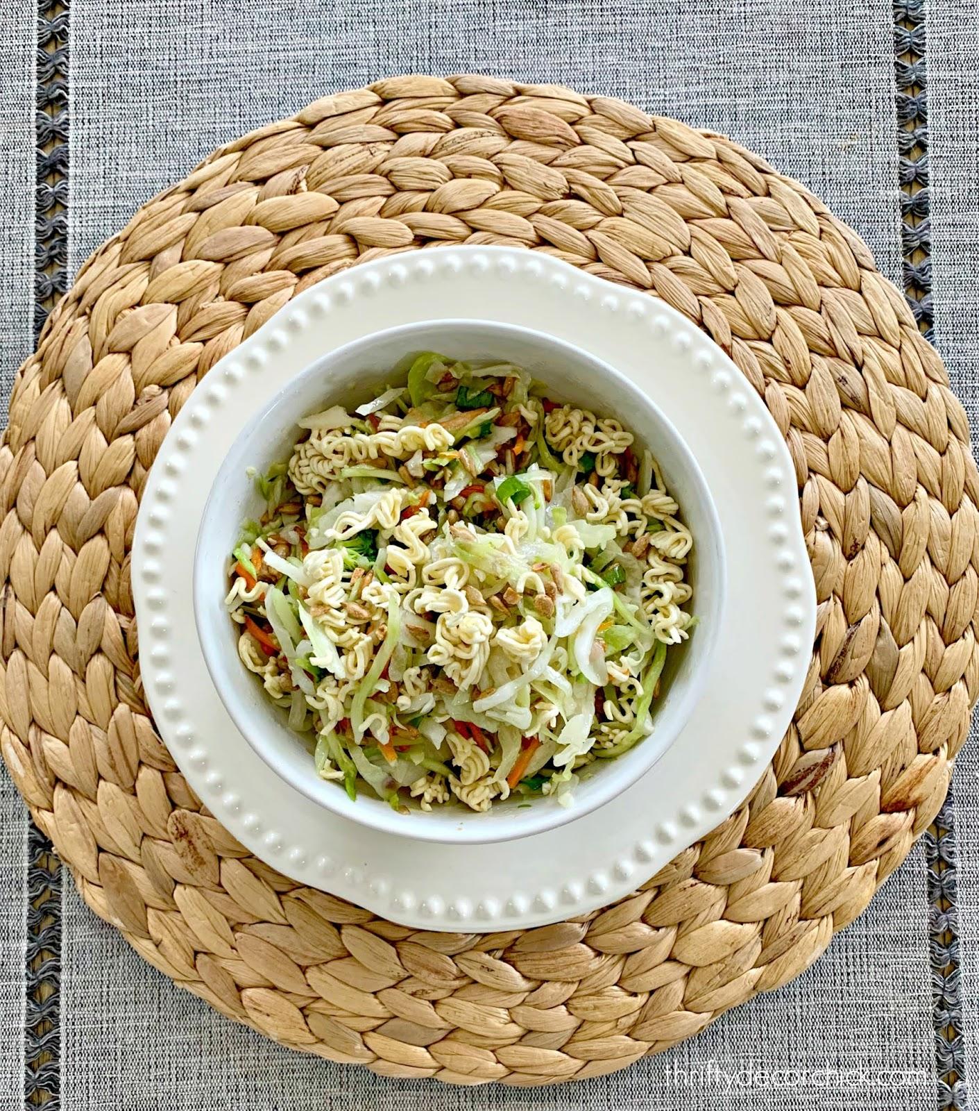 Delicious ramen slaw salad