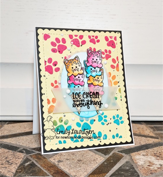 Ice cream solves everything by Emily features Cat Treats, Newton's Summer Treats, Pawprints, and Frames & Flags by Newton's Nook Designs; #newtonsnook