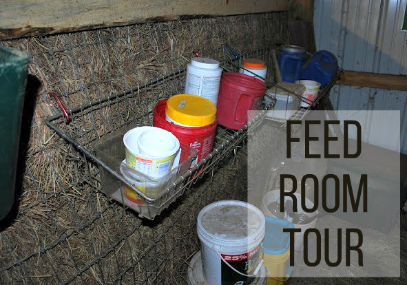 Come tour the little feed room in my goat barn.