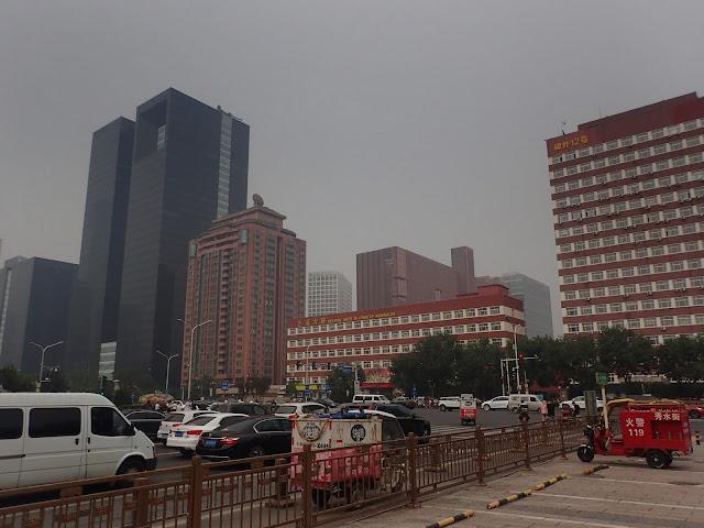 Centrum Pekinu. Na zdjęciu nie widać ogromu budowli
