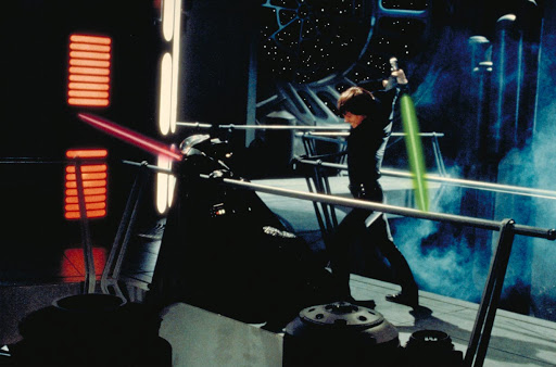 luke attacks vader