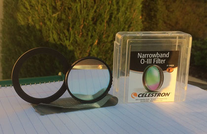 2 inch Inexpensive narrow band filter with 58mm-48mm adapter ring