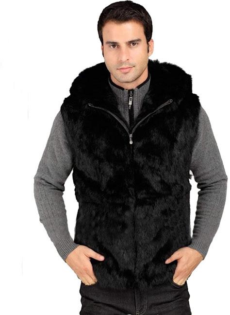 Good Quality Men's Faux Fur Vest