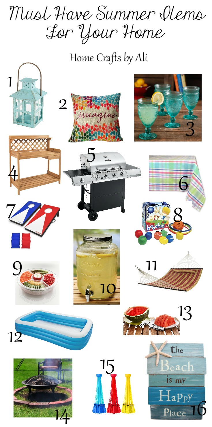 Must Have Summer Items For Your Home