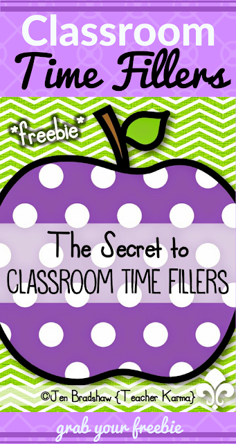 Classroom Time Fillers - Free Games and Activities for Transition Times @ TeacherKARMA.com