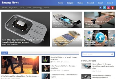 Engage News Blogger Template