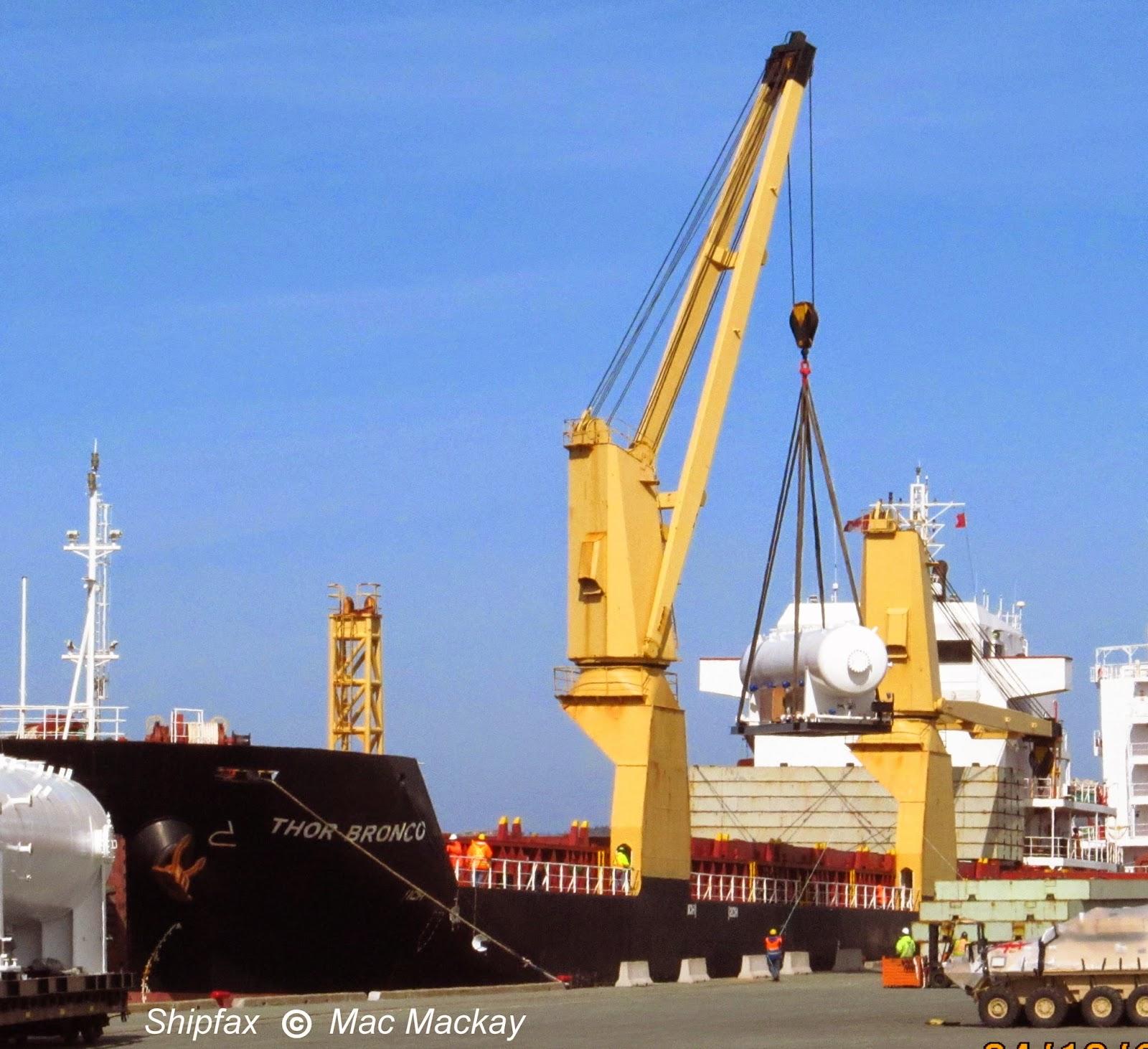 Pier 31: Shipfax: Busy Pier 30-31 Thor Bronco