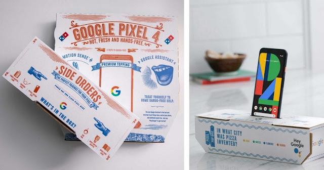 Pixel 4 giấu mình trong các hộp pizza của Domino