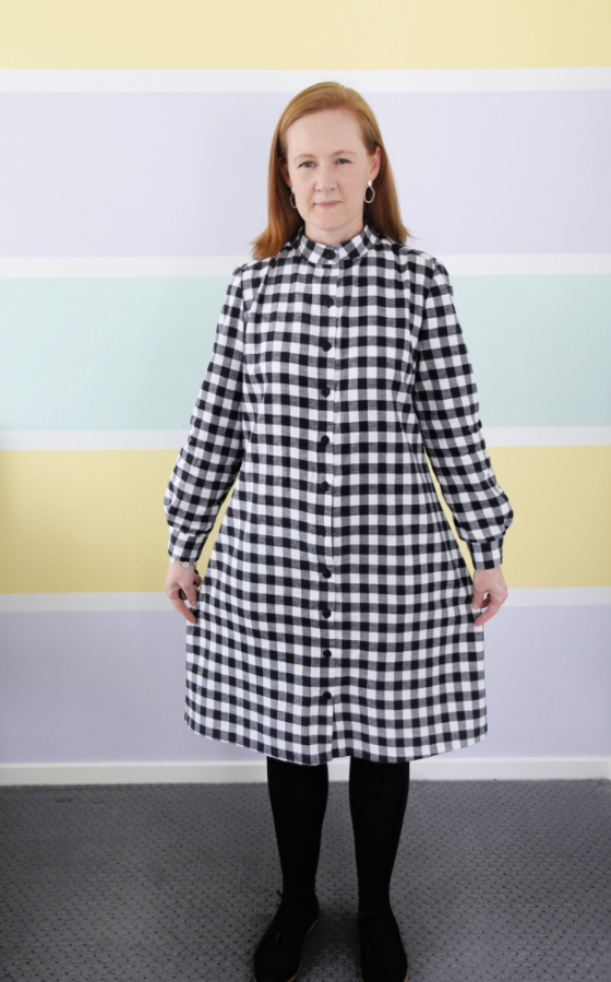 black and white check shirt dress simplicity 8014 www.loweryourpresserfoot.blogspot.com