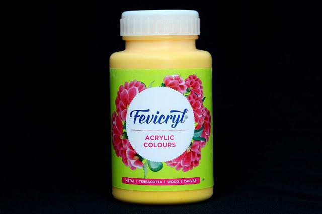 Pidilite Fevicryl Acrylic Colour Golden yellow 09 (500 ml)