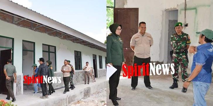 Tim Dari Mabes TNI Cek Langsung Kondisi Bangunan Makorem 141/Tp