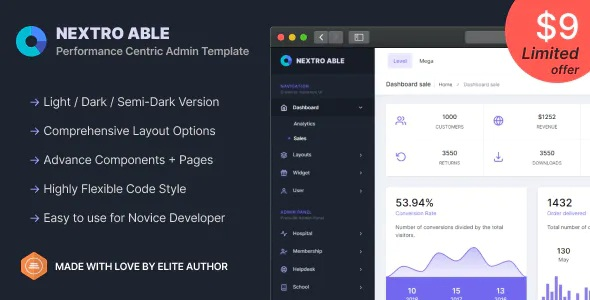 Nextro Able Bootstrap Admin Template