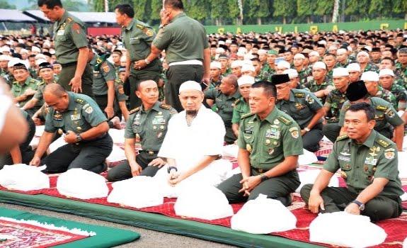 Sebelum Wafat, KH Hasyim Muzadi Berpesan agar TNI dan Ulama Bersatu