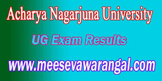 Acharya Nagarjuna University UG Exam Results