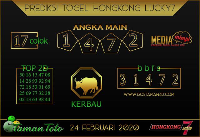 Prediksi Togel HONGKONG LUCKY 7 TAMAN TOTO 24 FEBRUARY 2020