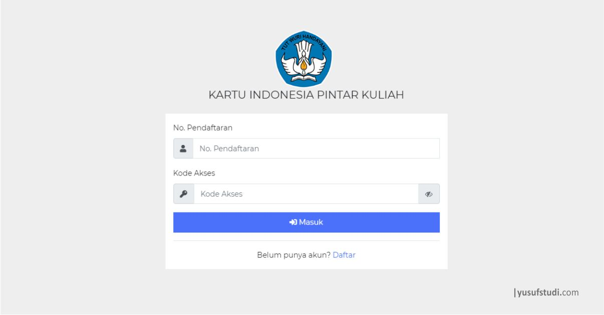 Syarat Dan Ketentuan Kip Kuliah 2021 Yusuf Studi
