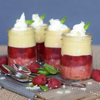 Raspberry & White Chocolate Mini Trifles