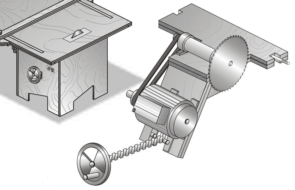 Muebles domoticos como hacer una sierra circular de banco for Polea para subir muebles