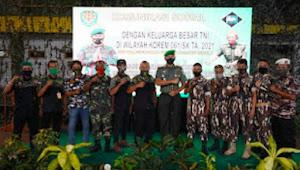 Danrem 061/SK Jalin Sinergitas Dengan Keluarga Besar TNI