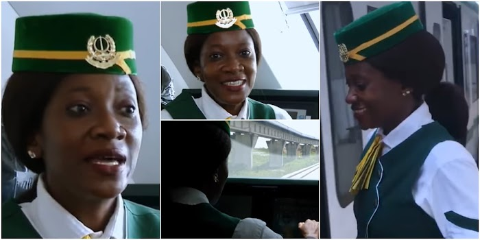 Nigeria's 1st Female Train Driver Isa Fatima Says She Was Laughed at