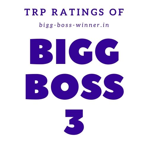 Bigg Boss 3 TRP Ratings