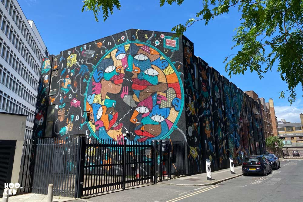 Shoreditch Street Art Mural by Italian artist Hunto And Mister Thoms.