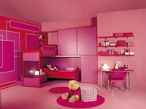 Cuartos rosa para dos ni as dormitorios colores y estilos for Cuartos de ninas color rosa