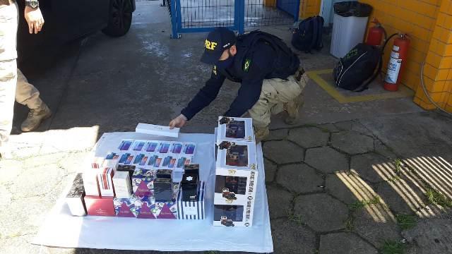 PRF apreende eletrônicos importados ilegalmente