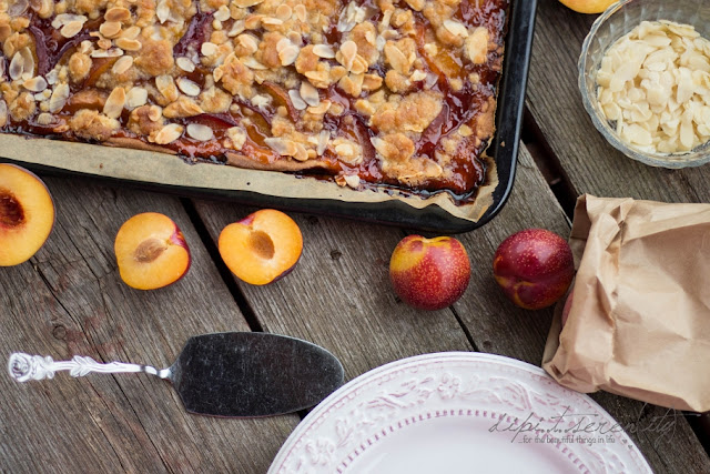 Peach Plum & Honey Streusel Slap Pie