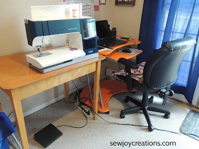 sewing room setup table desk