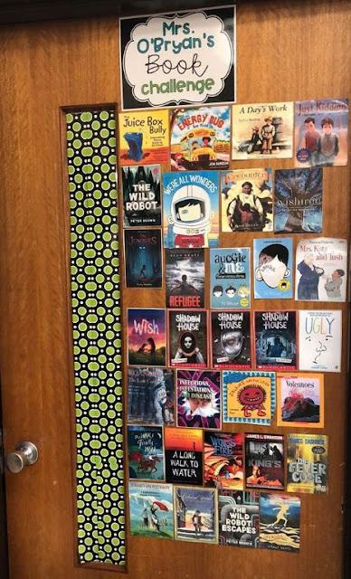 40 book challenge display