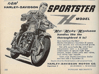 sportster xlh 1958 adversiting