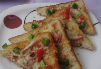 Bread Pizza Recipe - foodocon