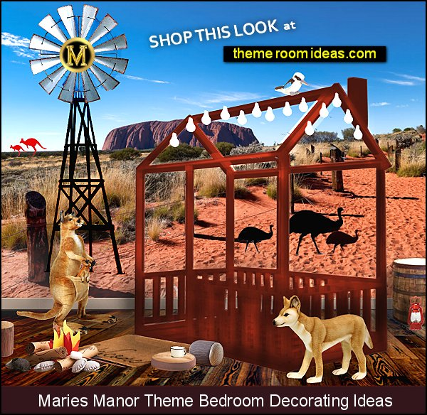 australian outback bedroom ideas ayers rock wallpaper mural australian native animals decor