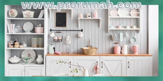 Tips Dekorasi Dapur Minimalis - gunakan rak terbuka