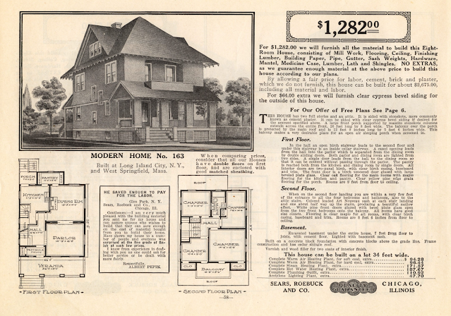 catalog image of Sears model No. 163 in the 1914 Sears Modern Homes catalog