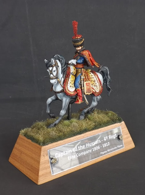 Captain of the Hussars, Elite Company 1806 - 1812 - Pegaso Miniatures 75mm New_1_002