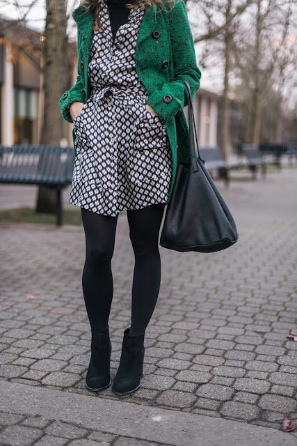 black tights with black booties