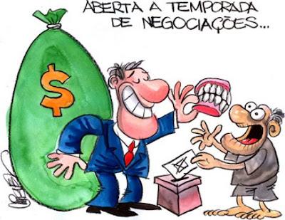 Resultado de imagem para POLITICO corrupto e ELEITOR corruptores