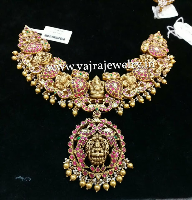 Ganesh Peacock Necklace by Vajra Jewellery
