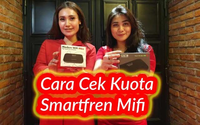 cek kuota Smartfren Mifi